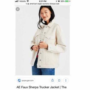 American Eagle Faux Sherpa Trucker Jacket